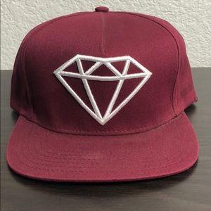 Diamond Supply Co. Rock Snapback Burgundy/White